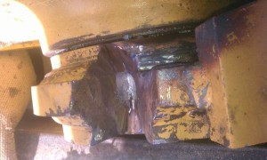 Boom Stress Crack Weld Repair